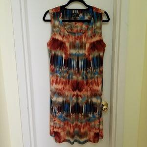 Orange/Blue tie dye dress